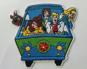 Scooby doo van iron on inspired patch, Scooby doo large patch inspired