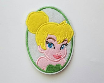 Tinkerbell iron on inspired patch, tinkerbell birthday party inspired patch