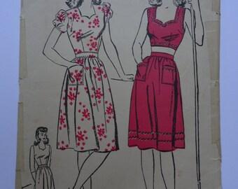 Vintage Advance Dress Pattern 3655 Size 17 Bust 35