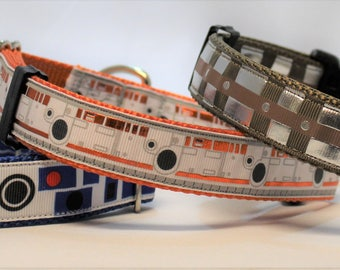 "Star Wars inspired - Droids and Wookiees - Dog Collar 1"" Wide"