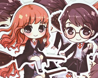 Harry potter and Hermione Stickers Vinyl sticerk,Glossy sticker,laptop sticker