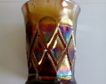 Carnival Glass Tumbler - Diamonds