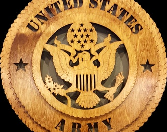 """12""""United States Army wall tribute"""