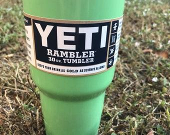 Yeti Light Green Powder Coated 30oz
