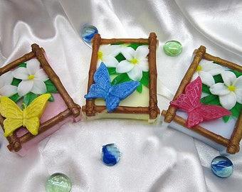 Butterfly Soap,Butterfly in Bamboo,Garden of Eden, Wedding Favor,Women Gift,