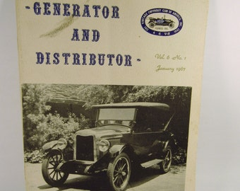 Generator and Distributor Vintage Chevrolet Club of America Classic Chevy Cars