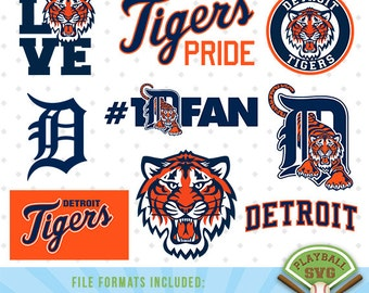 Detroit Tigers SVG files, baseball designs contains dxf, eps, svg, jpg, png and pdf files. PB-009
