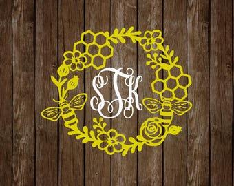Honey Comb Monogram