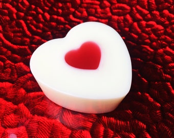 Heart in the heart soap, Valentines Day Soap, Heart Soap, Goats Milk, Glycerin Soap, Love Soap, Gift Ideas, Bath Soap