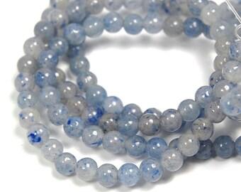 "Two 15.5"" strands Blue Aventurine Beads 4mm"