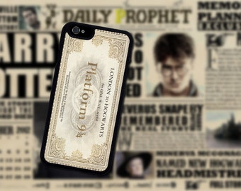Harry Potter Platform 9 3/4 Ticket Iphone case. Iphone 6 / 6s / 6 plus / 7 / 7 Plus Phone case Plastic / Silicone Rubber
