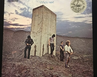 ON SALE Vintage 1972 The Who - Whos Next Vinyl Record Good Condition