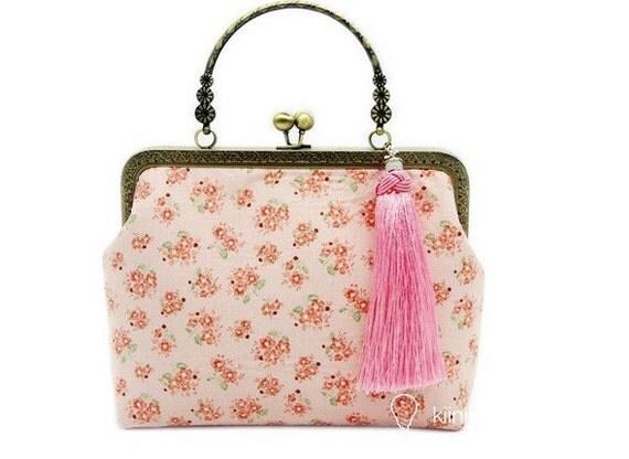 Hand Made Fabric Vintage Handbag