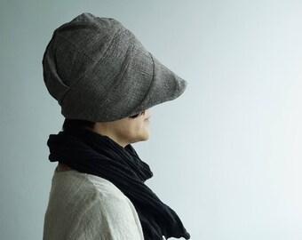 FREE SHIPPING-Peaked Beanie/Shapeable Brim Hat/Beanie Hat