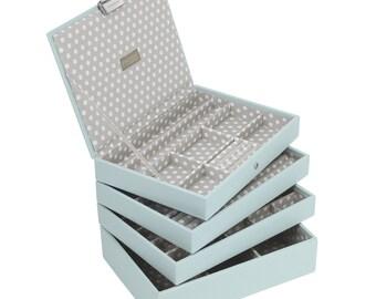 Stackers Set of 4 Blue Grey Medium Stacker Jewellery Trays LC4SETBLUEGREY
