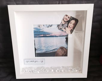 Personalised 'I Said Yes' Print with Frame
