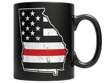 Limited Edition Firefighters - I fight what you fear Georgia Brotherhood Mug