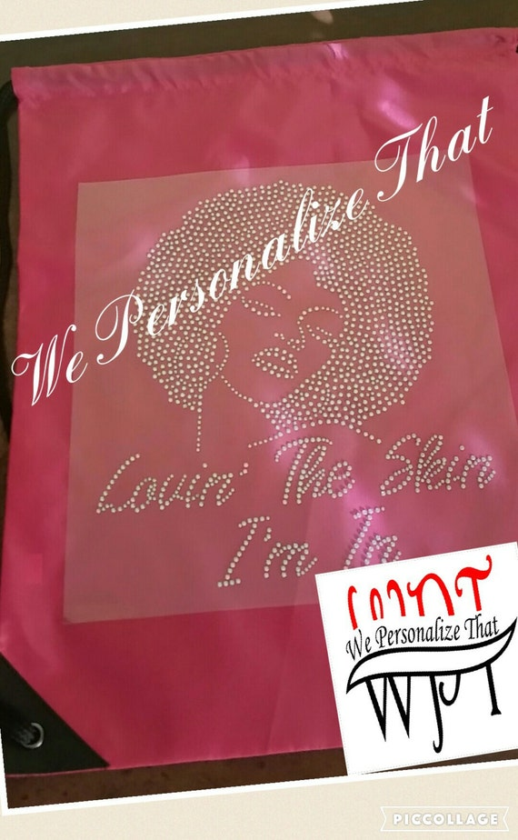 Rhinestone Diva Drawstring Bag