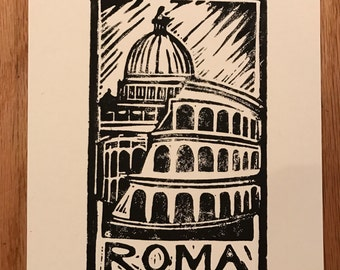 "Travel Dreams Block Print ""Rome"""