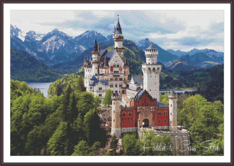 Counted Cross Stitch Pattern Neuschwanstein Castle