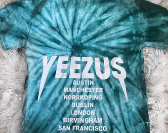 Tie Dye Yeezus Tour Merch Kanye West Yeezy Saint Pablo Tour Merch