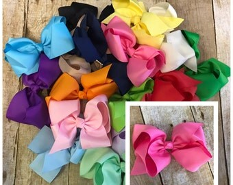6 inch bow set, large bow, bow bundle