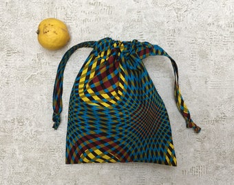 in fabric smallbags African mutlicolore - 2 sizes - cotton bags