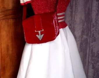 Vintage shiny red bag form the sixties