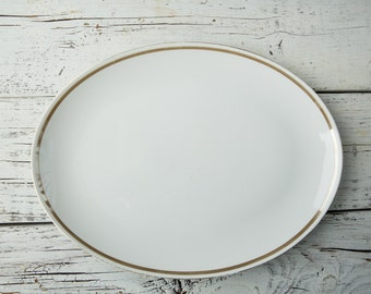 White Oval Ceramic Serving Plate/Platter-Food Photography Props