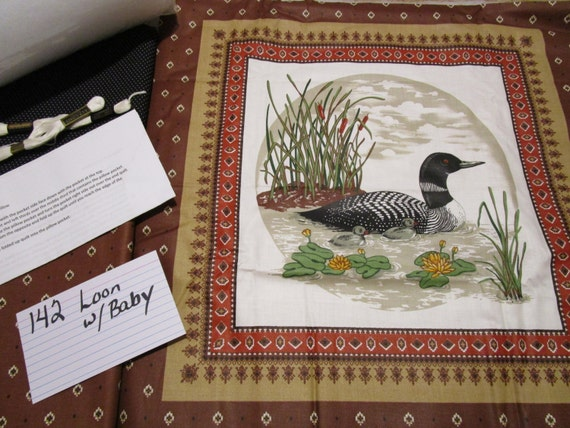 Loon w/Babies 2 - Pillow Quilt Kit