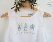 CACTUS tank top with embroidery