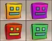 "Geometry Dash Icon Plush Toy. Small, 4"" Version"