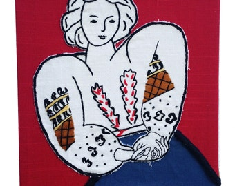 Embroidery and applique from Romanian Blouse By Matisse