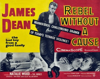 Rebel Without a Cause - James Dean - James Dean Poster - Wall Art - Movie Print - Movie Art - Movie Lover - 8x10 - 11x14 - 16x20 (JS00340)