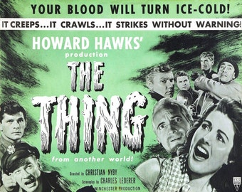 The Thing - Wall Art - Movie Print - Movie Poster - Movie Art - Movie Lover - Horror - 8x10 - 11x14 - 16x20 (JS00598)