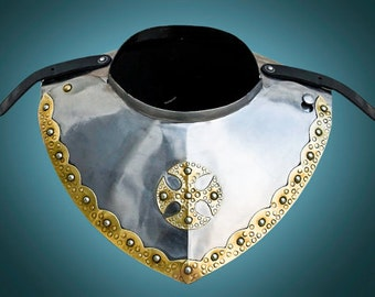 Combat Hussar Gorget SCA LARP medieval gorget fantasy gorget steel gorget sca gorget larp gorget medieval armor sca armor larp armor