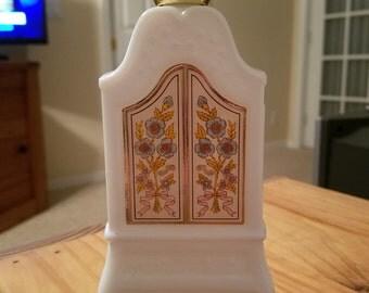 Vintage Avon Milk Glass Field Flowers Foaming Bath Oil