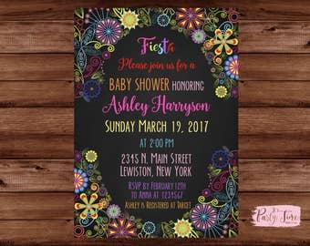 Fiesta Baby Shower Invitation - Mexican Baby Shower Invitation - mexican theme baby shower invitation - Mexican Invitation.