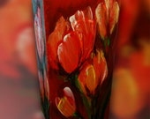 paraffin candle tulips
