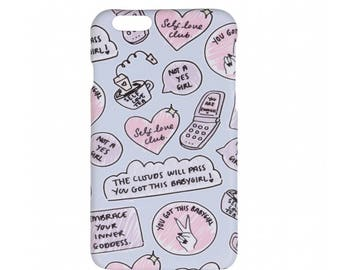 PICKMEUPINC x LAMODA self love iPhone 6 case