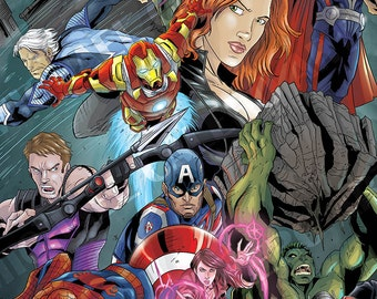 MCU Avengers (Hulk , Iron Man , Spider Man , Thor , Black Widow , Quicksilver , Scarlet Witch , Captain America  , Hawkeye , Ant Man, Vision