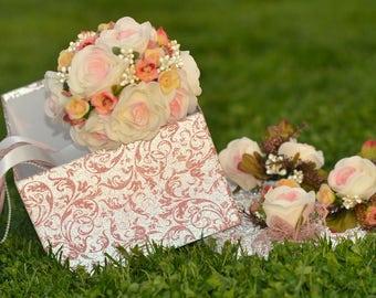 Bridal bouquet set, wedding bouquet, wedding flowers, evening sun bouquet, bridal flowers, rustic flowers, costem bouquet, handmade bouquet,