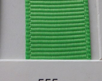 "1""/ 26mm Grosgrain Ribbon in Green Flash #555 x 2 meters"