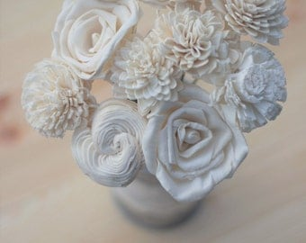 Ivory white Sola Flowers, Sola Flowers, Rustic Wedding, Cake Table Decor, Country Wedding, Rustic Home Decor, Wedding Flowers, DIY flowers