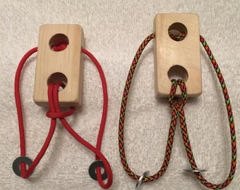 Two-Washer Paracord & Wood Puzzle