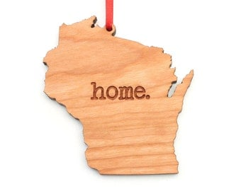 Wisconsin home. Christmas Ornament - WI Wisconsin Ornament - This is my home