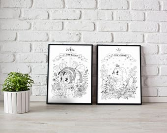 Bunny, Original Drawings, Illustration for Children, Greeting Cards, Bunny Drawing, Bunny Illustration, home decor, Christmas Cards,book art