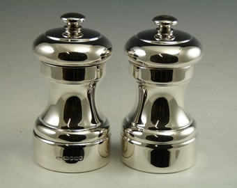 Sterling Silver - Salt and Pepper Pots / GRINDERS - Boxed