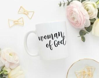"""Mug """"Woman of God"""""""