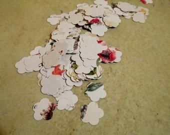 Paper confetti/Flower shaped confetti/Victorian Lady Book/Vintage book confetti/wedding confetti